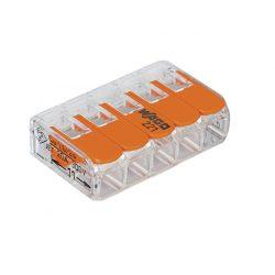 WAGO vezetékösszekötő 5-ös oldható átlátszó