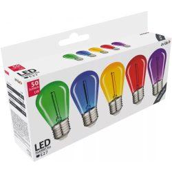 0,6W kék, zöld, lila, piros, sárga E27 filament led izzó Avide