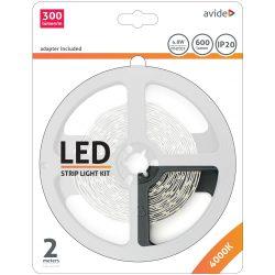 LED Szalag Bliszter 12V 4.8W SMD2835 60LED 4000K IP20 2m Avide