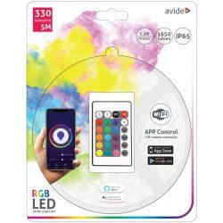 LED Szalag szett Bliszter 12V 7.2W SMD5050 30LED RGB IP65 5m WIFI TUYA + IR Avide
