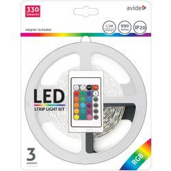 LED Szalag szett Bliszter 12V 7.2W SMD5050 30LED RGB IP20 3m Avide
