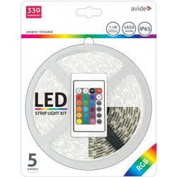 LED Szalag szett Bliszter 12V 7.2W SMD5050 30LED RGB IP65 5m Avide