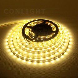 IP20 60 LED 3528 meleg fehér 4,8W/m LED szalag CONLIGHT