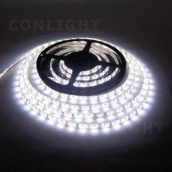 4,8W 60led IP65 DC 12V hideg fehér LED szalag Conlight
