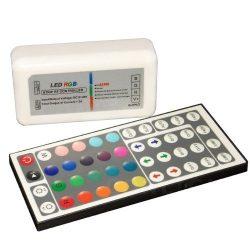 Rádiós RGB LED szalag vezérlő 44 gombos távirányítóval CONLIGHT