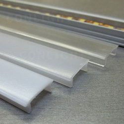 Félmatt polikarbonát fedő eloxált alumínium U és süllyesztett profilhoz 1 méter Conlight
