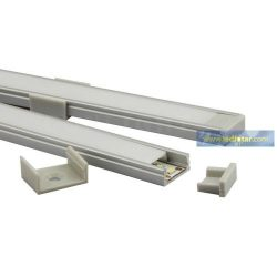 1m U alumínium profil LED szalaghoz 10mm belső mérettel CONLIGHT