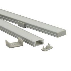 1m U alumínium profil LED szalaghoz 10mm belső mérettel szett Conlight