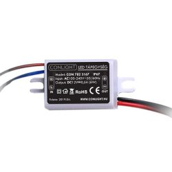 6W (0,5A) szerelhető kültéri LED tápegység CONLIGHT