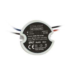15W (1,25A) szerelhető kültéri LED tápegység CONLIGHT