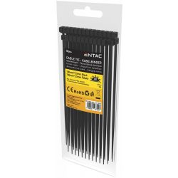Entac Kábelkötegelő 2.5mmx100mm Fekete Avide