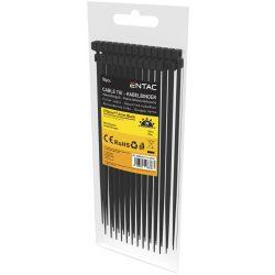Entac Kábelkötegelő 7.6mmx370mm Fekete