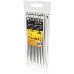 Entac Kábelkötegelő 7.6mmx370mm Fehér