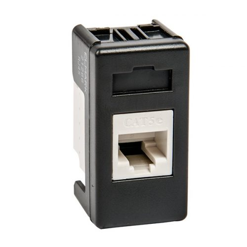 Lifestyle modulszámítógép dugalj RJ45 fekete ELMARK
