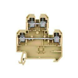 Sínre rakható ipari sorkapocs, 32A, DDTB4/5N, 0.2-6mm2, bézs ELMARK