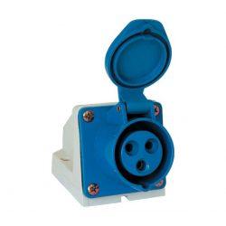 Ipari csatlakozó aljzat rászerelhető HT-123 32A Ip44 1p+N+E 230V  ELMARK