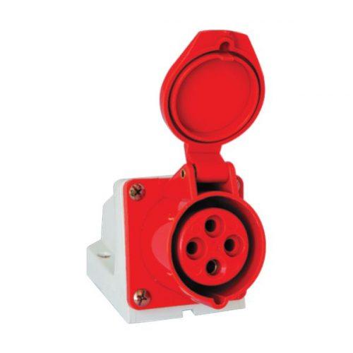 Ipari csatlakozó aljzat rászerelhető HT-124 32A Ip44 3p+E 400V Elmark