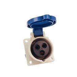 Ipari csatlakozó aljzat beépíthető HT-413 16A Ip44 1p+N+E 230V ELMARK