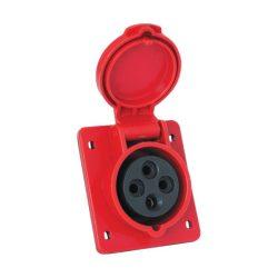 Ipari csatlakozó aljzat beépíthető HT-414 16A Ip44 3p+E 400V ELMARK