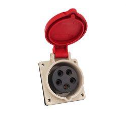 Ipari csatlakozó aljzat beépíthető HT-415 16A Ip44 3p+N+E 400V ELMARK