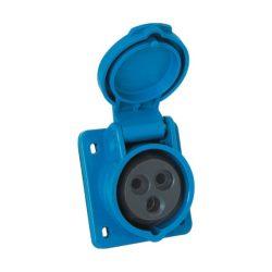 Ipari csatlakozó aljzat beépíthető HT-423 32A Ip44 1p+N+E 230V Elmark
