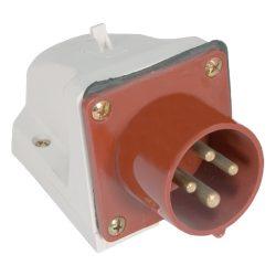 Ipari csatlakozó aljzat rászerelhető HT-524 32A Ip44 2p+N+E 400V ELMARK