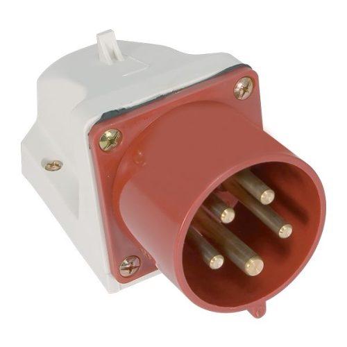 Ipari csatlakozó aljzat rászerelhető HT-525 32A Ip44 3p+N+E 400V Elmark