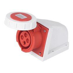Ipari csatlakozó aljzat rászerelhető HTN-1241 32A Ip67 3p+E 400V ELMARK
