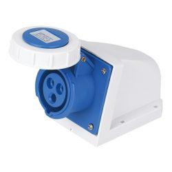 Ipari csatlakozó aljzat rászerelhető HTN-1131 16A Ip67 1p+N+E 230V  Elmark