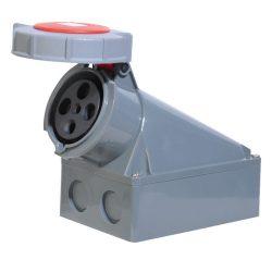 Ipari csatlakozó aljzat rászerelhető HTN-1341 63A Ip67 3p+E 400V ELMARK