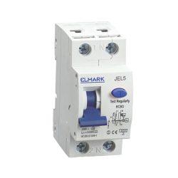 Kombinált elektronikus áramvédő kapcsoló JEL5 2P 32A/100mA Elmark