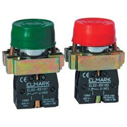Ipari nyomógomb EL 2-Bp 31 zöld Ip65 ELMARK