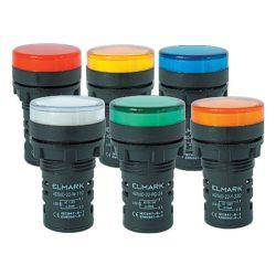 LED visszajelző Ad56D-22 PIROS 22mm 24V AC/DC Elmark