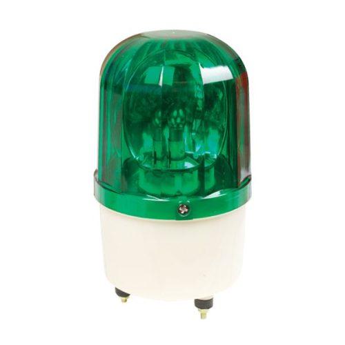 Jelző lámpa+sziréna LTE1101J-G 12V zöld Elmark