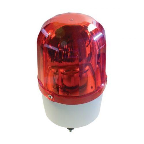 Jelző lámpa+sziréna LTE1101J-R 12V piros Elmark