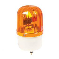 Jelző lámpa + sziréna LTE1101J-Y 12V sárga ELMARK