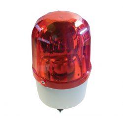 Jelző lámpa+sziréna LTE1101J-R 230V piros ELMARK