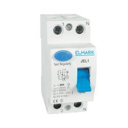 Áramvédő kapcsoló JEL1 2P 20A/100MA Elmark