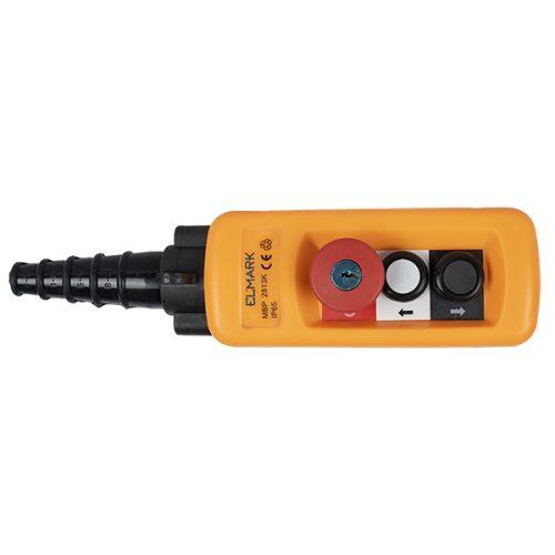 Daruvezérlő egység MBp-A2813k 2 gombos+vészjelző+Key, 1NO+1NC Elmark