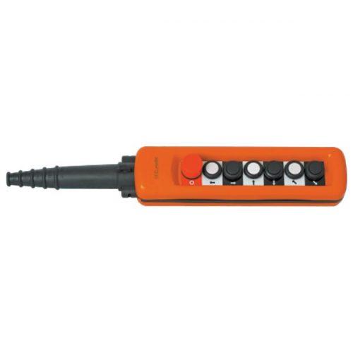 Daruvezérlő egység MBp-A6813k 6 gombos+vészjelző kulccsal, 1NO+1NC  ELMARK