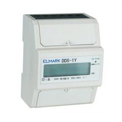 KWH mérő DIN - sínhez DDS-1Y-100 10/100 230V 1 Tariff ELMARK