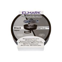 Szigetelő szalag 10mx19mm fekete Elmark