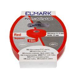 Szigetelő szalag 10mx19mm piros Elmark