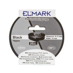 Szigetelő szalag 20mx19mm fekete Elmark