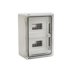 ABS műanyag maszkolt / modulos elosztószekrény átlátszó ajtóval PP 3112 18 modulos
