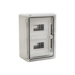 ABS műanyag maszkolt / modulos elosztószekrény átlátszó ajtóval PP 3114 24 modulos