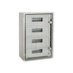 ABS műanyag maszkolt / modulos elosztószekrény átlátszó ajtóval PP 3118 60 modulos