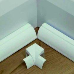 Műanyag kábelcsatorna sarokba illeszthető 23x23mm fal átvezetés Elmark