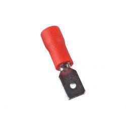 Szigetelt csúszó saru csap apa 2,5mm piros 1-es vezetékhez ELMARK