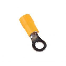 Szigetelt szemessaru RVL 6mm sárga 4-6-os vezetékhez ELMARK